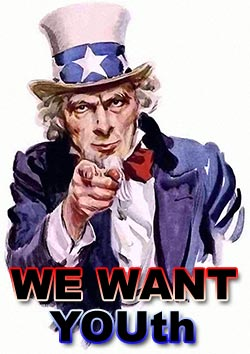 We Want Youth Image of Uncle Sam